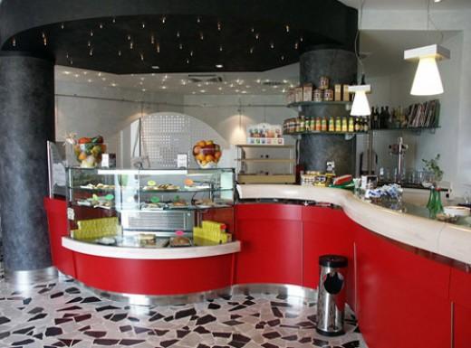 Home design decorating interior exterior modern for Cafe kitchen decorating ideas