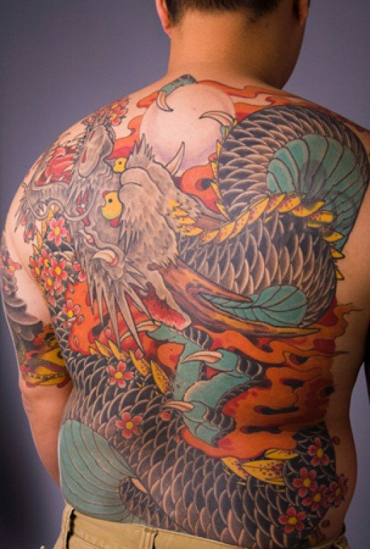 Japanese Dragon Tattoos for Men