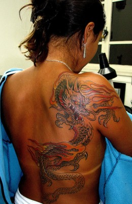 Miami  Dragon Tattoo Design