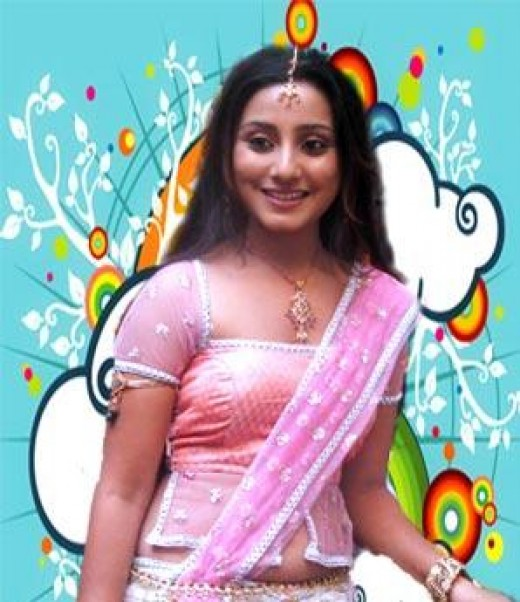 Neha Marda in hot pink saree