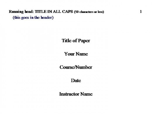 how to write a cover page for an essay apa