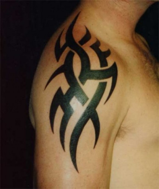 Tribal celtic tattoo star
