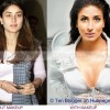 Kareena Kapoor without makeup :  next door girl and WIth Makeup : a bombshell
