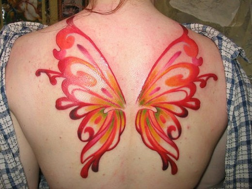butterfly tribal tattoo. Tribal Butterfly Tattoos For