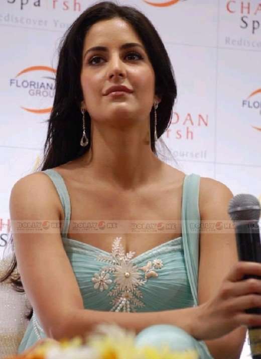 Katrina Kaif in light blue dress