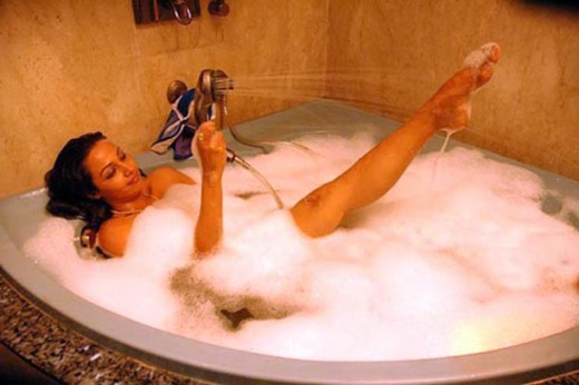 Mayuri in Bath Tub wet Pics