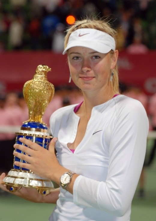 Maria Sharapova 2008 Qatar Total Open Champion