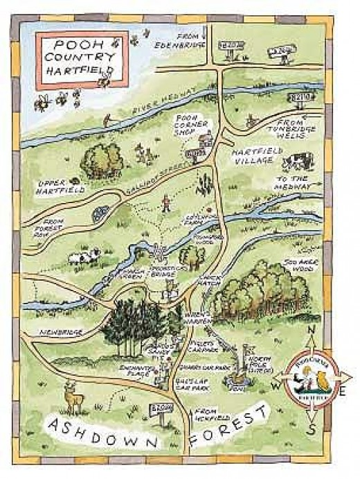 A Map of Pooh Country