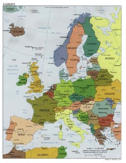 Map Of Europe Pre 1989