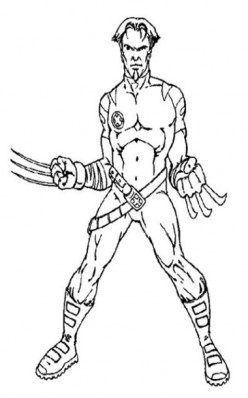 X-man Coloring Pages