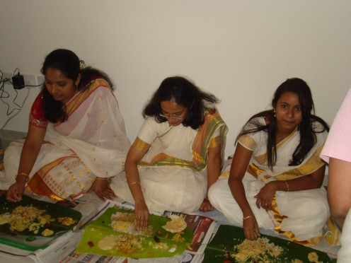 Unseen Saree Wearing Women Onam Photos Series 14