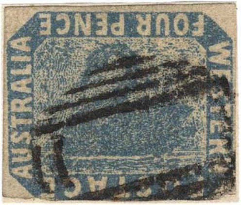 Australian Postage Stamp - Inverted Swan Stamp