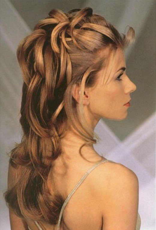 Great Long Curly Prom Hairstyles Half Updos