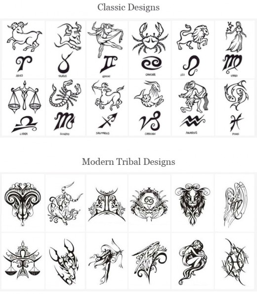 Tattoo Pictures Of Zodiac Signs