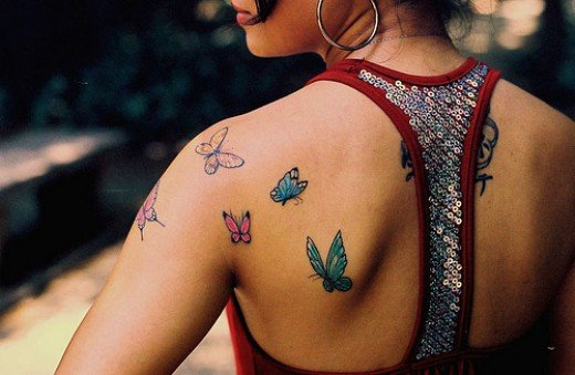 Butterfly Female Tattoo Designs