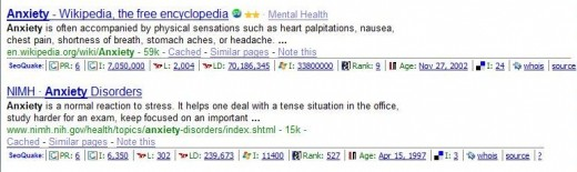 Look what SEOQuake does with Google Search Results