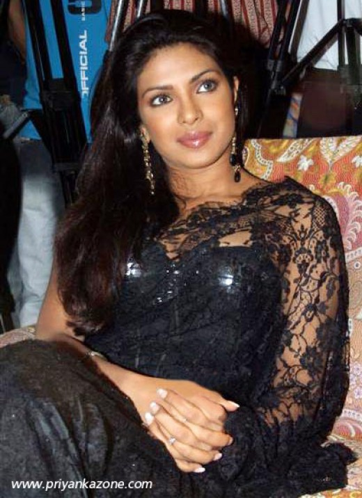 priyanka chopra hot see through saree photo with gorgeous boobs