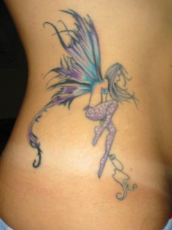 female fantasy tattoo