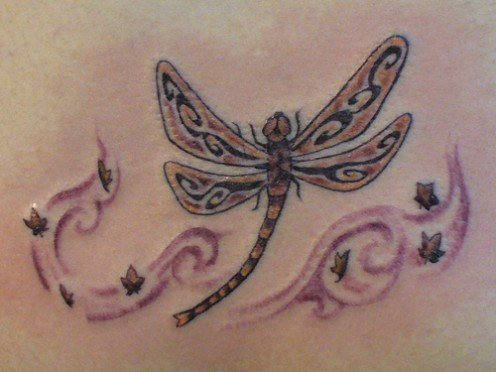 Image Design Dragonfly Tattoo And Star Tattoos For Sexy Girl Tattoo