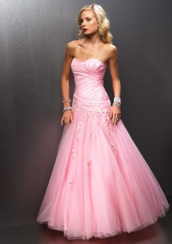 Pink and Fuchsia Prom Dresses 3