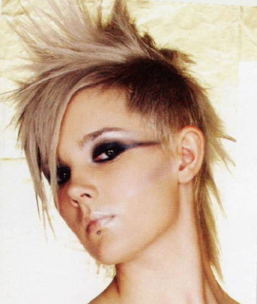 short punk hair styles with a boyish look. spikey punk short haircut looking