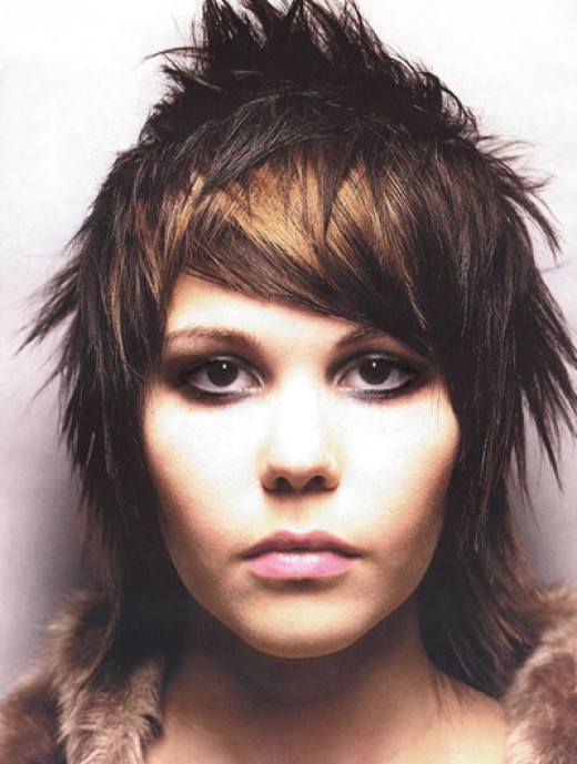 rare pictures of girls punk hairstyles spikey punk short haircut looking