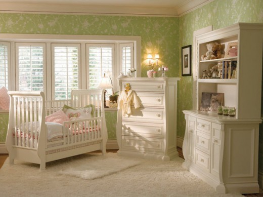 white furniture nursery
