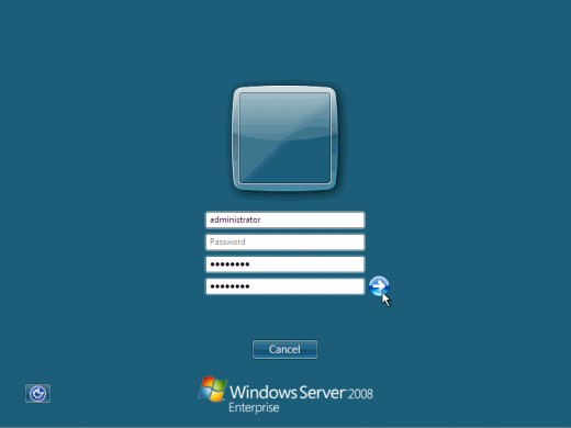 14. The default Administrator is blank, so just type Administrator and press Enter.