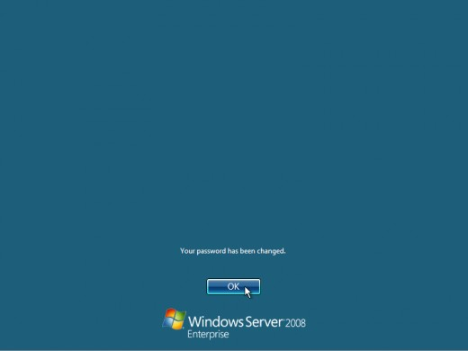18. Finally, the desktop appears and thats it, youre logged on and can begin working. You will be greeted by an assistant for the initial server configuration, and after performing some initial configuration tasks, you will be able to start working