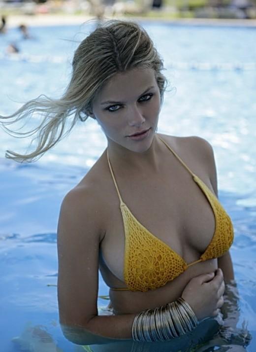 Beautiful Brooklyn Decker Sports Illustrated swimsuit model
