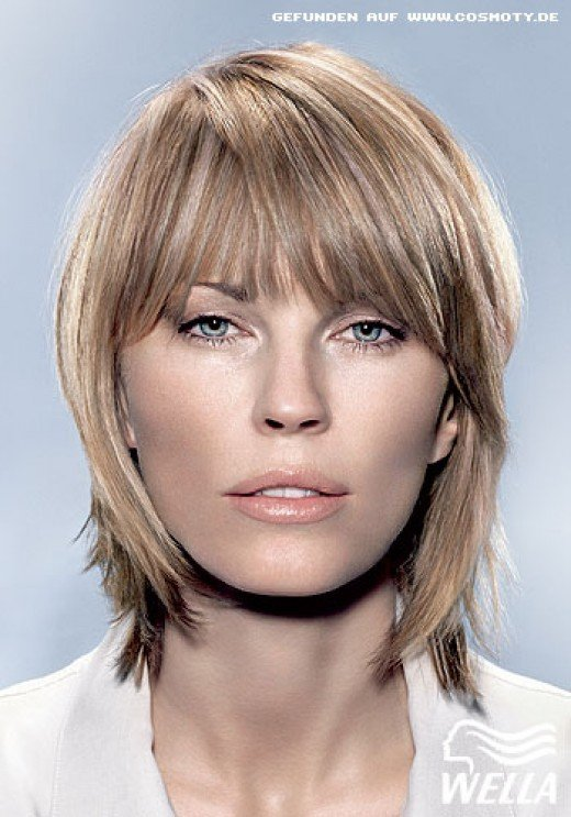 short asymmetrical layered bob haircut