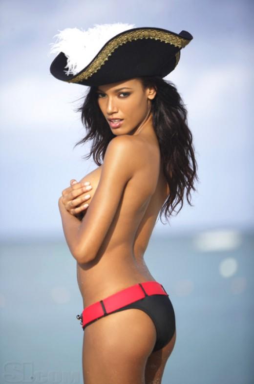 Selita Ebanks black SI model