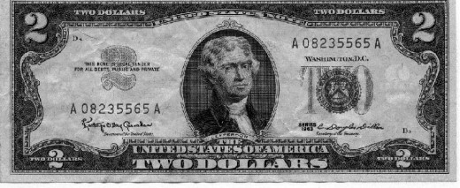 american 2 dollar bill