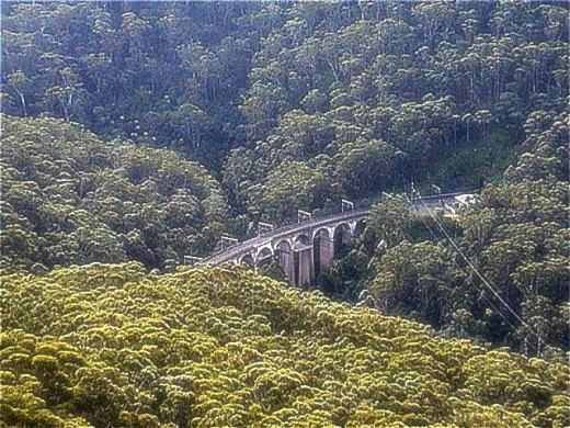 STANWELL PARK RAILWAY VIADUCT. At 215ft high, this is the highest railway viaduct in Australia. It was built in the late 19th century and is made out of sandstone.