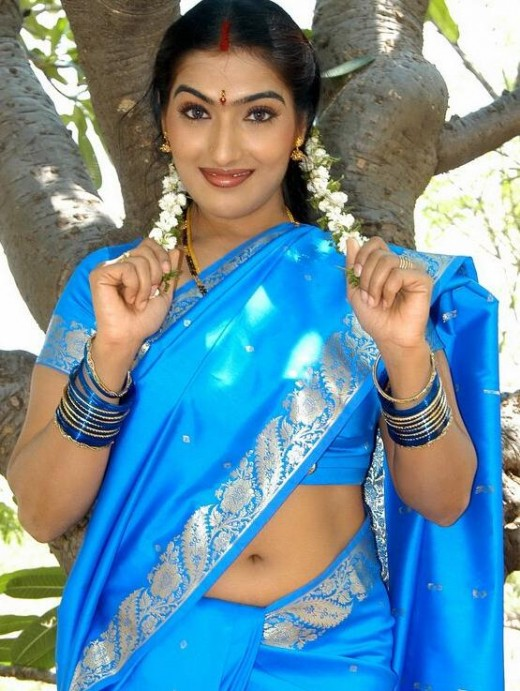 Actres In Tollywood And South Indian Films Who Wears Saree Below Navel