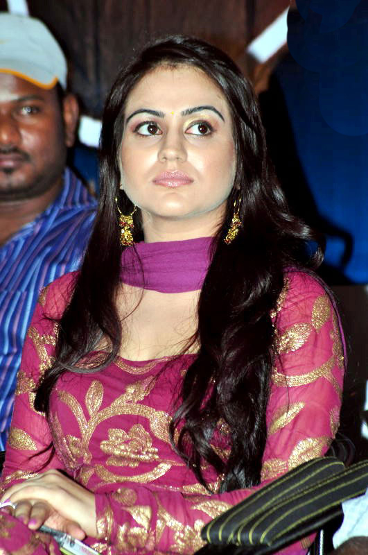 South Indian Masala Actress Aksha in Pink Dress Looking Sexy