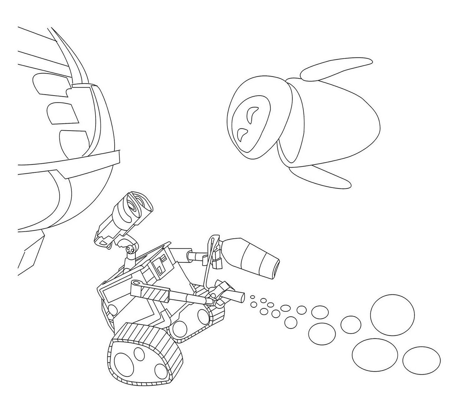 Wall E Coloring Pages Free Printable : Free wall e coloring pages and games