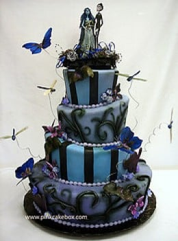 good gothic wedding cakes design