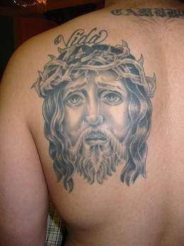 Tattoo Jesus Face