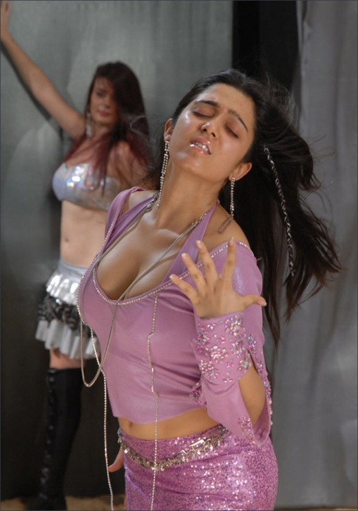 Busty and Charming South Indian Actress CHARMI Kisses a Cockroach!!!