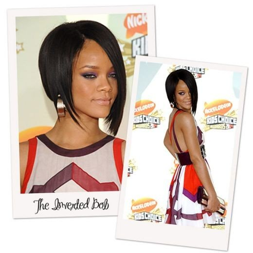 Rihanna Inverted Long Bob Hairstyles