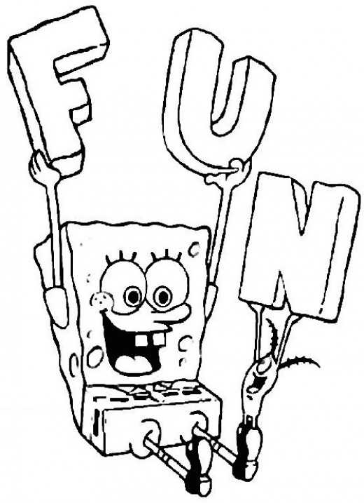 Sponge Bob SquarePants Coloring Pages12