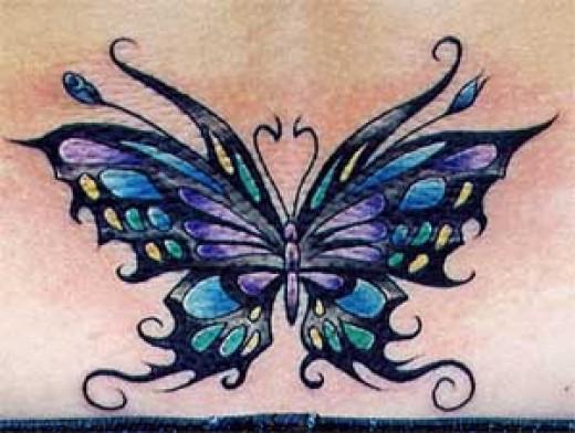Butterfly tattoo art