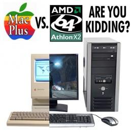 Prestandejämförelse mellan MacPlus från 1986 och AMD Dual Core från 2007