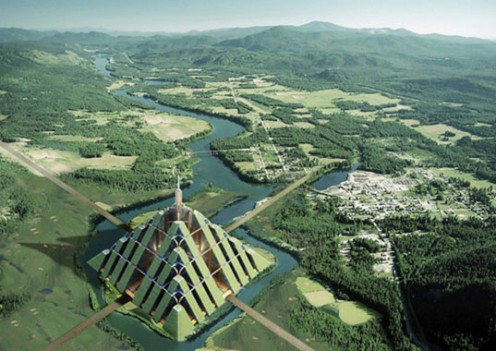 'Ziggurat' pyramid will house 1 million. Photo: Inhabitat.com