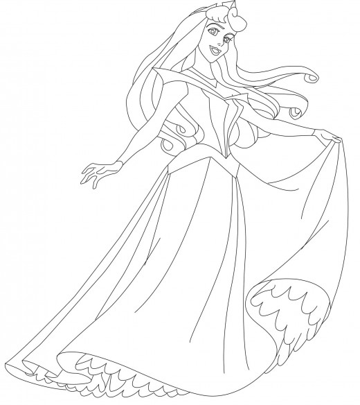 Sleeping Beauty Coloring Pages title=