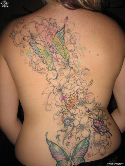 cute angel tattoos on upper back body