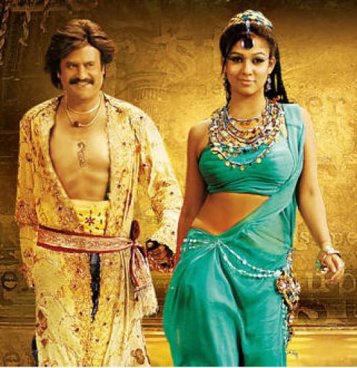 Nayantara with Rajinikant