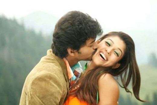 With Vijay in Villu