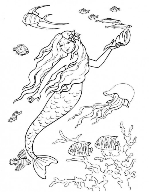 Little Mermaid Coloring Pages title=